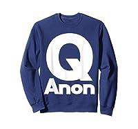 Qanon Tshirt Classic Q Shirt Wwg1wga Trump Rally T-shirt Sweatshirt Navy