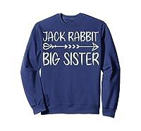 Cute Fack Rabbit Big Sister Shirt T Shirt Sweatshirt Navy