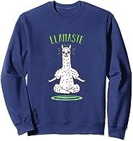 Da Ste - Namaste Yoga Meditation Hatha Xmas T-shirt Sweatshirt Navy
