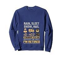 Postal Worker Retiret Gifts Funny Post Office Shirts Sweatshirt Navy