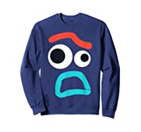 And Pixar Toy Story 4 Forky Timid Face Costume Shirts Sweatshirt Navy