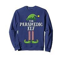 Paramedic Elf Matching Family Group Christmas Party Pajama Shirts Sweatshirt Navy