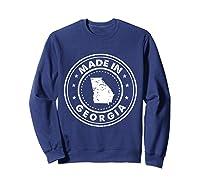 Made In Georgia Vintage State Pride Usa Shirts Sweatshirt Navy