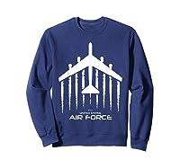 Air Force B 52 Bomber American Flag Veteran Shirts Sweatshirt Navy