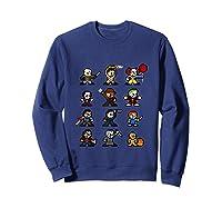 Friends Pixel Halloween Icons Scary Horror Movies Tank Top Shirts Sweatshirt Navy