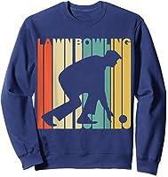 Vintage Style Lawn Bowling Silhouette T-shirt Sweatshirt Navy
