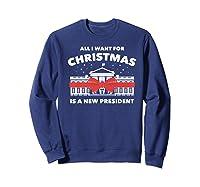 Resist And Impeach President For Christmas 2020 Anti Trump Premium T Shirt Sweatshirt Navy