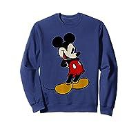 Disney Mickey Mouse Smile T Shirt Sweatshirt Navy