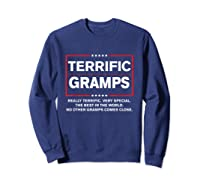 Donald Trump Fathers Day Gift For Gramps Funny Campaign Sign T Shirt Sweatshirt Navy