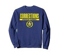 Florida Correctional Officer Thin Gray Line Flag Shirts Sweatshirt Navy
