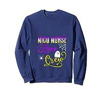 Nicu Nurse Boo Crew Halloween Ghost Spider Rn Group T-shirt Sweatshirt Navy