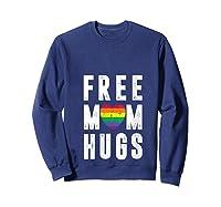 Lgbt X Pride - Cute Mother Distressed Lgbt Free Mom Hugs T-shirt Sweatshirt Navy