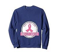Breast Cancer Awareness Support Month Ribbon T Shirt Sweatshirt Navy