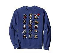 Friends Pixel Halloween Icons Scary Horror Movies Premium T Shirt Sweatshirt Navy