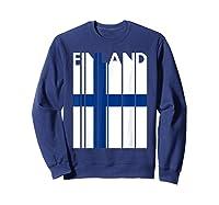 Finland Vintage Finland Flag Finnish Flag Shirts Sweatshirt Navy