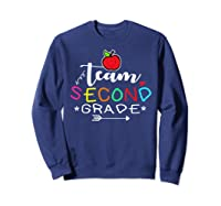 Team 2nd Second Grade Back To School Tea Gift Shirts Sweatshirt Navy