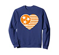 Tennessee Flag Shirt Vintage Distressed Usa Heart T Shirt Sweatshirt Navy