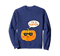I'm A Pumpkin Costume Cosplay Fruit Halloween Shirts Sweatshirt Navy