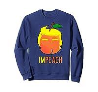 Anti Trump 2020 Vote Dems For Senate Impeach President Premium T Shirt Sweatshirt Navy