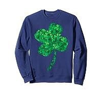 Shamrock Saint Patrick's Day Shirts Sweatshirt Navy
