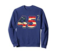 Donald Trump America Re Election T Shirt Gift Sweatshirt Navy
