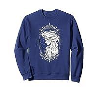 Frozen Elsa Sketch Portrait Snowflakes Shirts Sweatshirt Navy