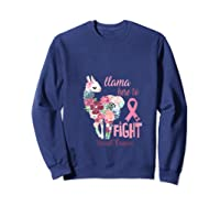 Floral Breast Cancer Awareness Month Here To Fight T Shirt Sweatshirt Navy