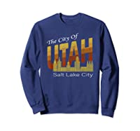 City Of Utah Shirt Salt Lake City Vintage State Gift T Shirt Sweatshirt Navy