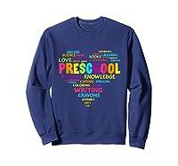 Heart Preschool Team Tea Student Back To School Shirts Sweatshirt Navy