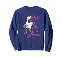 Floral Breast Cancer Awareness Month Figth Premium T Shirt Sweatshirt Navy