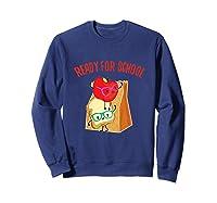 Ready For School Cute Lunch Bag Sandwich Fruit Tshirt Sweatshirt Navy