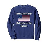 The Original Rebel Colonial Flag T Shirt Sweatshirt Navy