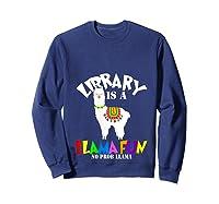 Library Is Shirts Librarian Team Reading Book T Shirt Sweatshirt Navy