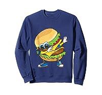 Cool Dabbing Burger Funny Street Dancer Hamburger Lover Gift Tank Top Shirts Sweatshirt Navy