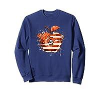 Oklahoma State Cow Nation Flag T Shirt Apparel Sweatshirt Navy