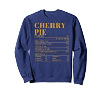 Ry Pie Nutrition Facts Gift Funny Thanksgiving Costume Shirts Sweatshirt Navy