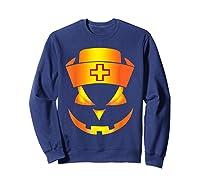 Scary Halloween T Shirt For Nurses Sweatshirt Navy