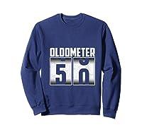 Oldometer 50 50th Birthday 50 Years Old Gifts Shirts Sweatshirt Navy