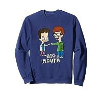 Netflix Big Mouth Fist Pump Shirts Sweatshirt Navy