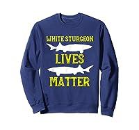 Sturgeon Fishing Shirt Fish T-shirt Gift Sweatshirt Navy