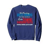 Funny Trump 2020 Best Moms Raise Trump Supporters Election T Shirt Sweatshirt Navy