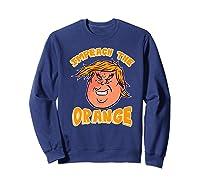 Impeach Donald Anti Trump Orange Emoji Premium T Shirt Sweatshirt Navy