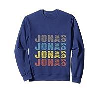 Jonas First Given Name Pride Funny T Shirt Sweatshirt Navy