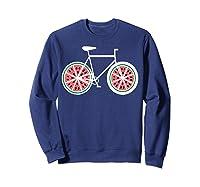 Fixie Single Speed Watermelon Bicycle T Shirt Gift Sweatshirt Navy