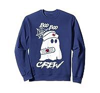 Boo Boo Crew Nurse Ghost Funny Halloween Costume Gift T-shirt Sweatshirt Navy