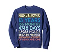 Nager Vintage 13 Years Birthday N Gifts Shirts Sweatshirt Navy