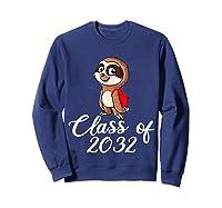 Sloth Class Of 2032 Back To School Gift Shirts Sweatshirt Navy