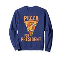 Impeach Trump Pizza For President Pizza Lovers T Shirt Sweatshirt Navy