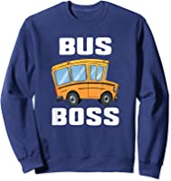 Funny Bus Boss School Bus Driver T-shirt Job Career Gift Sweatshirt Navy