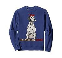 Dalmatian Mom Bandana Dalmatian Dog Lovers Gifts Shirts Sweatshirt Navy